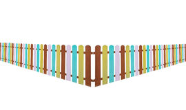 Colorful fence isolate on white Royalty Free Stock Photos