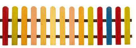 Colorful fence Stock Image