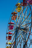 Colorful Ferris Wheel on Blue Royalty Free Stock Image