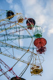 Colorful Ferris Wheel in Blue Sky Stock Photos