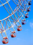 Colorful ferris wheel on blue sky background Royalty Free Stock Image