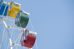 Colorful ferris wheel with blue sky Royalty Free Stock Image