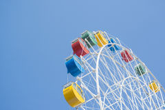 Colorful ferris wheel with blue sky Stock Photography