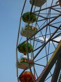 colorful-ferris-wheel-cabins Stock Image