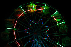 Colorful ferris wheel at night amusement park Royalty Free Stock Images