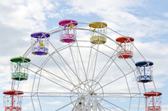 Colorful Ferris Wheel Over blue Sky Stock Photo