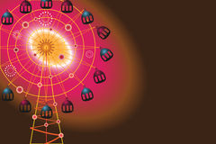 Ferris Wheel. Colorful Ferris Wheel, the vector eps file has the background separated in a layer, vector illustration Stock Photo