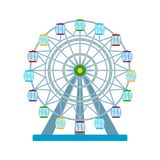 Colorful ferris wheel on white background, vector illustration. Ferris wheel on white background, vector illustration Royalty Free Stock Photography