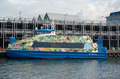 Colorful ferry docked at the port Royalty Free Stock Photo