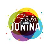 Colorful 2016 festa junina background. Vector Royalty Free Stock Image