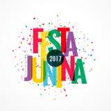 Colorful 2017 festa junina celebration background. Vector Stock Images