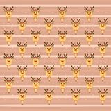 Colorful festive background with funny reindeer.  Stock Photo