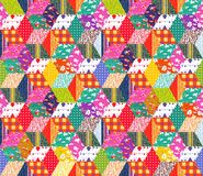 Colorful festive background. Seamless patchwork pattern. Quilt. Print for fabric Royalty Free Stock Photos