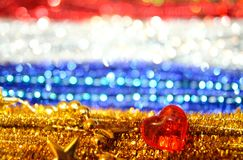 Colorful festive background, shine and heart.  Stock Photo