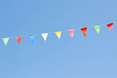 Colorful festive bunting flags Stock Photo