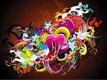 Colorful festive element. Illustration composition Stock Photography