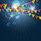 Colorful festive flags. Vector illustration with elements for celebrate. Royalty Free Stock Photography