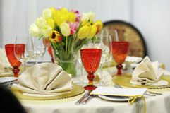 Colorful festive table Royalty Free Stock Photo