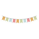 Colorful festoon flags hanging icon design. Vector illustration Stock Image