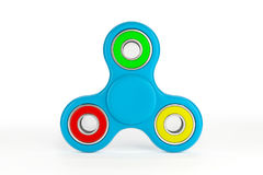 Colorful fidget spinner. Fidget spinner with different colors. Very popular toy for distress relief. 3d render illustration Stock Image