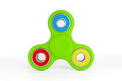 Colorful fidget spinner. Fidget spinner with different colors. Very popular toy for distress relief. 3d render illustration Royalty Free Stock Photo