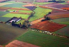 Fields from the plane near Munich, Germany Stock Image