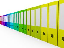 Colorful file folders Stock Images