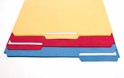 Colorful File Folders Royalty Free Stock Photos