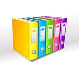 Colorful File Stock Photo