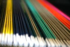 Colorful files. Coloful files in the cabinet Stock Photo