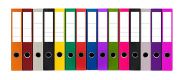 Colorful files Royalty Free Stock Image
