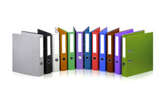 Colorful files. Various colorful files against white background Royalty Free Stock Image