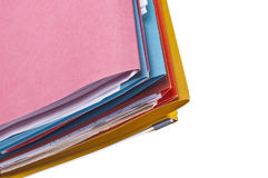 Colorful Files Border or Background Image Stock Photo