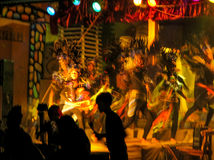 Colorful Filipino Dancers - Motion Blur Stock Photography