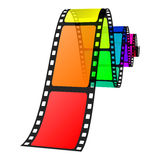 Colorful film. Vector illustration of colorful film Stock Photo