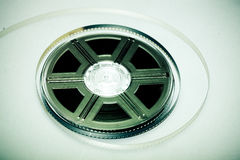 Colorful film reel. Film reel - concept background. Movie industry symbol Stock Images