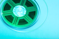 Colorful film reel. Film reel - concept background. Movie industry symbol Stock Image