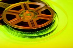 Colorful film reel concept Stock Images