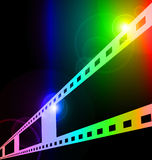 Colorful film strip. Coloful film strip disappearing into the distance Royalty Free Stock Image
