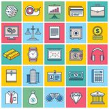 Colorful Finance Icons. An illustrated set of different colorful finance icons Royalty Free Stock Image