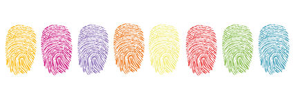 Colorful finger prints symbol vector Royalty Free Stock Photos