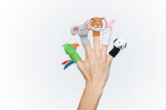 Colorful finger puppets Stock Photo