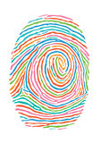 Colorful fingerprint Royalty Free Stock Image