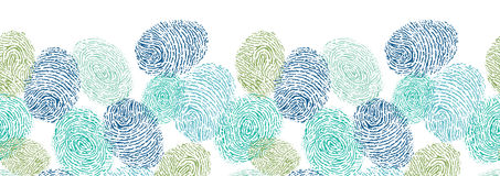 Colorful fingerprints horizontal seamless pattern. Vector colorful fingerprints horizontal seamless pattern background with hand drawn elements Stock Photography