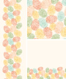 Colorful fingerprints seamless pattern background Stock Images