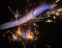 Colorful fire Stock Images