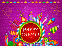 Colorful fire cracker for Happy Diwali holiday of India. Vector illustration of colorful fire cracker for Happy Diwali holiday of India Royalty Free Stock Images