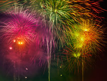 Colorful Fire Work Royalty Free Stock Images