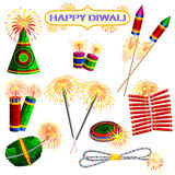 Colorful firecracker for Diwali holiday fun. Illustration of set of colorful firecracker for Diwali holiday fun Stock Photography