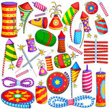 Colorful firecracker for Diwali. Vector illustration of collection of colorful firecracker for Diwali Royalty Free Stock Photo